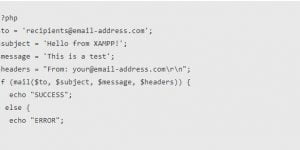 send mail from localhost